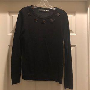 Black crystal sweater